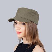 Berets WZCX Unisex Płaski Top Color Color Beret Wiosna Jesień Regulowany Dorywczo Outdoor Vintage Peaked Cap
