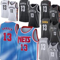 """Harden 2021 James 13 Harden Jersey Kevin 7 Durant 11 Irving 2020 2021 Kyrie New City Mens Basquete Brooklyn """"Nets"""" Mens"""