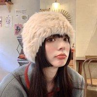 Beanie / Crânio Tampas Inverno Real Furef Beanies Mulheres Quentes De Tricô Rex Bonés Ao Ar Livre Moda Snow Cluves Caps1