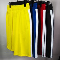Mens Designer Luxo Shorts Retro Contraste Branco Color Ribbon listrado Casual Homens e mulheres Casais MESMO ESTILO