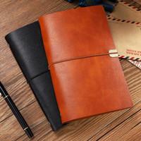 Bloco de notas arruinar A6 A5 Leather Notebook Journal 2021 Capa Macio Planejador Espiral 6 Ring Binder Office Negócios Nota de papelaria