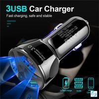 الشحن السريع QC3.0 البسيطة 3 منافذ USB سريع شاحن سيارة للحصول على XIAOMI هواوي شاحن الهاتف المحمول محول في السيارة مع التجزئة