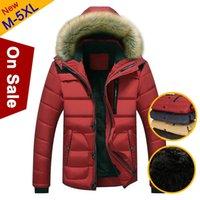 -20 'C de invierno polar Calentar Hombres chaqueta abrigos Resistente al viento grueso otoño con borde de piel para hombre de la chaqueta con capucha de algodón acolchado 2020 MULS Marca