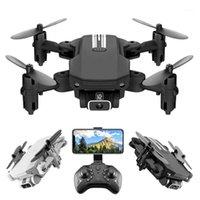 AHOHA RC MINI DRONE 4K HD камера WiFi FPV БПЛА Пульт дистанционного управления Складной Quadrocopter Качество Светодиодный свет Вертолет RC Игрушка для Child1