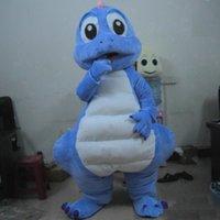 2021 Qualitäts-heiß Lovly Blue Dragon Dinosaurier-Maskottchen-Kostüm-Karneval Festival-Partei-Kleid-Ausstattung für Erwachsene