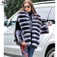 Tatyana Furclub 2020 Yeni Geliş Kadınlar Gerçek Kürk Kış Kürk Ceket Siyah Sıcak Casual Harajuku Gotik Coats Artı Boyutu Tops