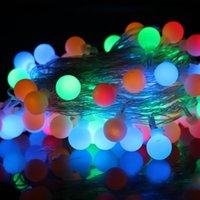 4M 28 LED RGB ماتي الكرة LED ضوء سلسلة عيد الميلاد جارلاند لحزب عطلة الزفاف الرئيسية في الهواء الطلق الديكور 220V الاتحاد الأوروبي التوصيل