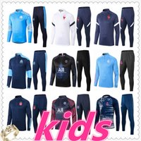 20 21 kids football training suit soccer tracksuit 2020 2021 kids football tracksuit survetement chandal jogging