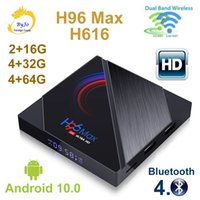 H96 Max H616 Smart TV Box Android 10.0 Bluetooth 4.0 Media Player 2.4g / 5,0 g Wifi 16g 32G 64G 6K