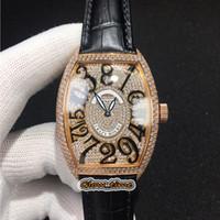 Высококачественные сумасшедшие часы 8880 CH полный алмазный циферблат Miyota автоматические мужские часы роза золото алмазные чехол кожаный ремешок спортивный дизайнер часы
