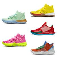 Kyries 5 Chegada dos homens sapatos de basquete Esponja x Irving 5s v Five Mr. Krabs Alta Qaulity SportskinJordâniaTênis retros.