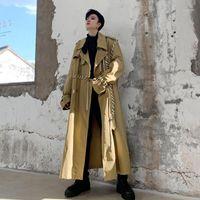 Europäische High Streetwear Damen Frühling Trenchcoat Elegante gekerbte Revers Mantel Großhandel F3931