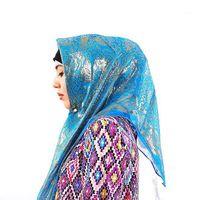 Venda de promoção! Seda jacquard lenço muçulmano quadrado hijabs xaile étnico ultraleve unltraleve hijab acessórios femininos islâmicos1
