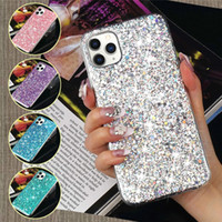 Case Cover di lusso di scintillio Paillettes morbida antiurto in silicone per iPhone Pro 11 XR XS Max X 8 7 Plus 6 6S Plus SE 2020 12 Mini Pro Max