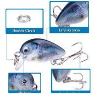 5pcs 3cm 2g Swim Fish Fishing Lure Artificial Hard Crank Bait Topwater Wobbler Japan Mini Fishing Crankb jllcZI