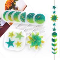 DIY Epoxy Resina Silicone Molds Moon Star Sun Mold Manual Ornamento Molde Pingente Branco Transparente Novo 2 5HJ G2