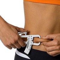 Großhandel Personal Körper Fettverlust Tester Rechner Bremssattel Fitness Clip Fett Messwerkzeug Slim Chart Skinfold Test Instruments DH0889 T03
