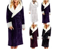 Womens Long Bath Robe Women Plus Size Bathrobe with belt Win...