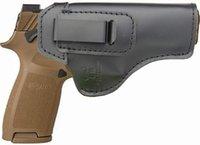 IWB Holster Cuir convient à SIG Sauer P Compact, transport, taille réelle à l'intérieur de la ceinture cachée de pistolets de pistolet de pistolet à main droite