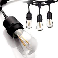 IP65 15M LED أضواء سلسلة S14 E27 ماء دافئ LED ريترو الشعيرة مصباح في الهواء الطلق شارع حديقة فناء إضاءة