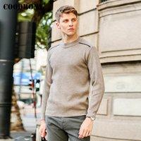 Мужские свитера Coodrony бренд одежды уличная одежда мода повседневная о-шеи пуловеры высококачественные джемпер осень зима мягкий теплый свитер мужчины P1
