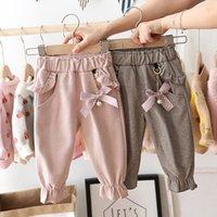 JEDERIN BABY Girls Hosen 1-5 Jahre Kinder Mode Tasche Hosen Kinder Frühling und Autummn Warme Casual Lange Hosen Mädchen Kleidung LJ201019