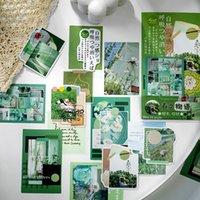 60 pz / confezione disegno paesaggio memo pad pianificatore appiccicoso memo adesivo carta kawaii articoli di carta forniture per ufficio di carta estetica