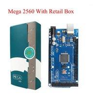 MEGA 2560 R3 Tablero 2012 Versión Official con Chip ATMEGA 2560 ATMETE16U2 para Arduino Controlador integrado con Retail Box original