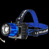 LED Nakrycia głowy Latarka Noc Wędkowanie Silne Super Jasne Headlamp Outdoors Men Head Lampa High Power Fashion 15by P2