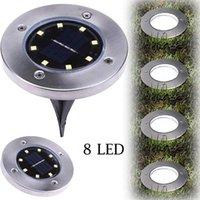 Underground-Lampe Solarstrom vergrabene Lampe 8 LED unterirdisches Licht gemahlener Außenlichtweg Way Garden Rasen Innenhof Landschaftsdekoration