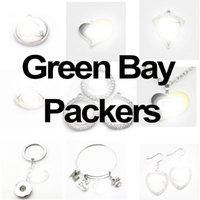 Football Team Green Sport Bay Charms Dangle Hanging Charms Bracelet Bracelet Collier Collier Bijoux Bijoux Accessoire Amérique Charms