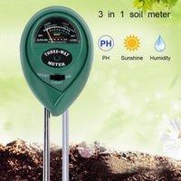 Metre Dijital Test Cihazı 3 In1 Nem Güneş Işığı PH Metre Bitkiler için Çiçekler Asitlik Ölçüm Bahçe Aracı