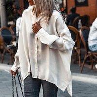 Celmia Hemd 2020 Herbst Casual Langarmbüro Hemden Dame Mode Solide Revers Bluse Lose Tops 5XL Party Blusas Femininas1