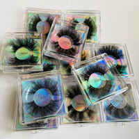 Thick Long 25mm Mink False Eyelashes Extensions Super Soft Vivid Fake Lashes Mink Eye Makeup Accessory With Box 12styles RRA3781
