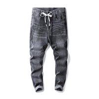 2020 de los nuevos hombres estiramiento regular Fit Casual Jeans de visita del estilo clásico de la manera Pantalones Denim Hombre Negro Azul Gris Pantalones
