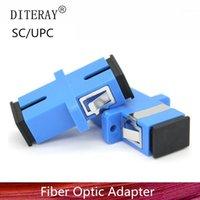 Équipement à fibre optique 50/100/200PCS SC UPC Simplex Mode Adaptateur Coupleur optique Connecteur de bride1