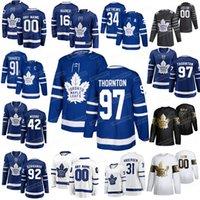 Toronto Maple Leafs hockey jerseys 97 Joe Thornton 34 Auston Matthews 16 Mitchell Marner 91 Juan Tavares Morgan Rielly cosido personalizada