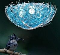 الإبداعية الأزرق الطيور عش مصباح السقف غرفة نوم غرفة نوم البحر الأبيض المتوسط الإضاءة مطعم إضاءة دافئة رومانسية