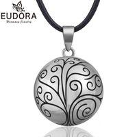 Eudora harmoni boll hängsmycke halsband träd chime bola för kvinnor mode smycken gåva mexikansk graviditet boll 45''chain b316 y1220