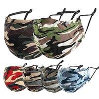 masque de masque de visage masque anti-poussière masque camo pour hommes femmes épaissies Facem-masque de camouflage 3D 3D respirant 6 couleurs