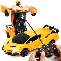 2021 جديد 2 في 1 rc سيارة لعبة التحول روبوتات سيارة القيادة مركبة السيارات الرياضية نماذج التحكم عن سيارة rc لعبة هدية للأولاد لعبة