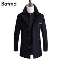 Batmo Новое поступление Зима толще теплых повседневных шерстяных траншеи для мужчин, мужские зимние куртки, мужские парки плюс размер M- LJ201109
