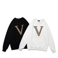 Hombres Mujeres Carta Sudaderas Bordadas Plus Velvet Acolchado Sudaderas Casual Sudadera Suéter Jersey