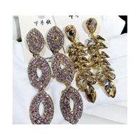 Silver Fringe Earrings Big Tassel Long Crystal Dangle Hoop Drop Mix Different Earrings Quilling Austrian Crystal Wed wmtBeL whole2019