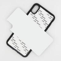 2020 Em branco 2D Sublimação TPU PC Phone Case Capa para iPhone 12 Mini 11 Pro Max X XS Max 7 8 Plus SE com inserções de alumínio