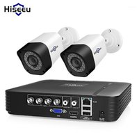 HISEEU 4CH Video Surveillance Kit CCTV Câmera Sistema de Segurança Do Câmera Ao Ar Livre 2 Pcs 2MP 1MP À Prova D 'Água AHD Sistema APP Visualizar suporte HDD1