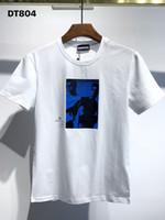 DSQ PHANTOM TURTLE 2021SS New Mens Designer T shirt Paris fashion Tshirts Summer DSQ Pattern T-shirt Male Top Quality 100% Cotton Top 1051