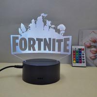 Fortnite 3D البصرية الوهم مصباح ليلة الخفيفة DC 5V USB بطارية تعمل بالطاقة الجملة دروبشيبينغ شحن مجاني