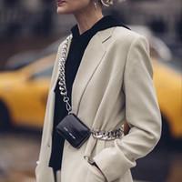 Le donne Totes di lusso ins spessa catena tracolla in metallo stile caldo moto portafoglio mini borsa sacchetto moneta di modo pacco petto cinghia frizione C1009