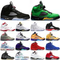 Erkekler 5 5 S Ayakkabı Alternatif Bel Kupa Odası Top 3 Ada Yeşil Oregon Ördekler Sneakers Eğitmenler 40-47
